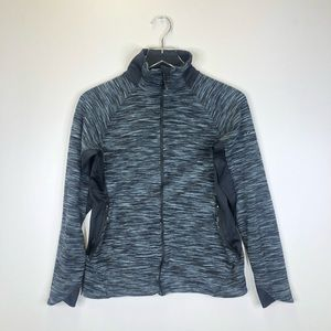 Columbia Full Zip Heather Blue Sweater Size M
